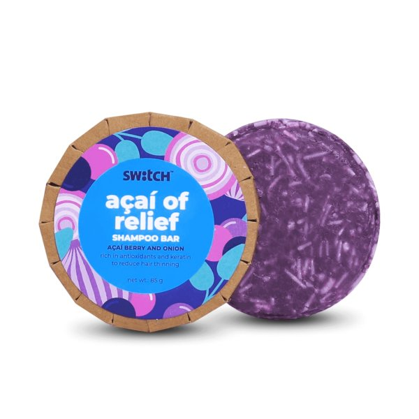 Hair Strengthening Acai of Relief Shampoo Bar for Fragile Hair - 85g