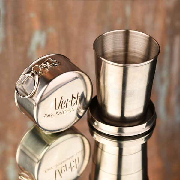 Collapsible stainless steel tumbler by Verth