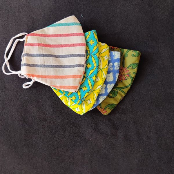 Reusable Cotton Masks Set of 4