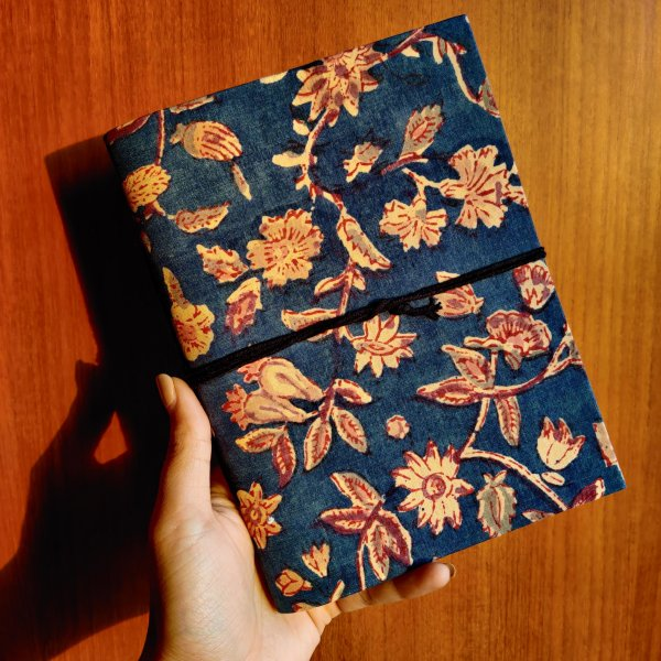 Hand Made Block Print Fabric Cover Diary